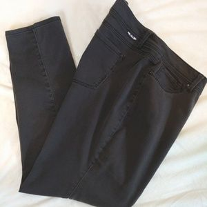 Plus size gray jeans